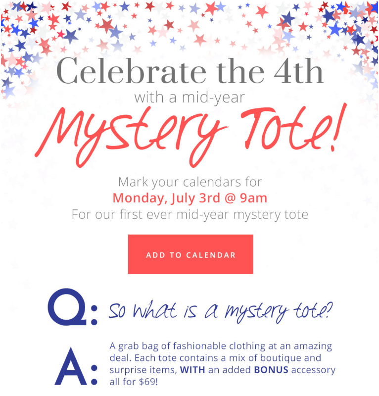 Golden Tote Mystery Tote Sale – Launching July 3rd!