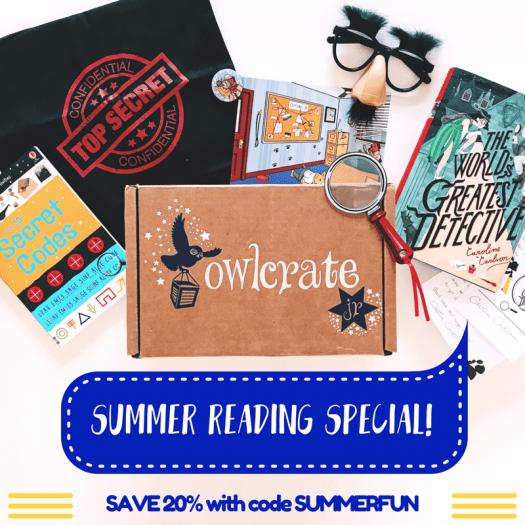 OwlCrate Jr. Summer Sale – 20% Off Subscriptions!