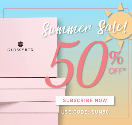 GLOSSYBOX Coupon Code – 50% Off June Box