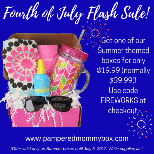 Pampered Mommy Box 4th of July Flash Sale!