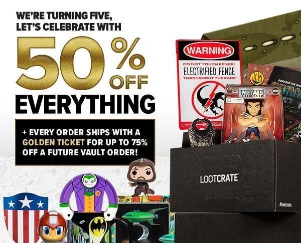 Loot Vault Flash Sale – 50% Off Everything!!