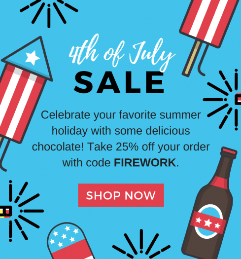 Chococurb 4th of July Sale – 25% Off!