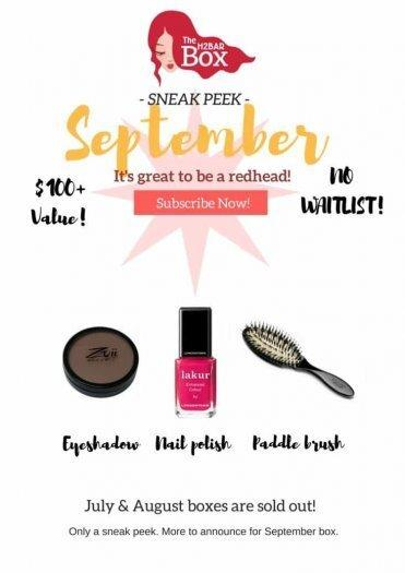 September 2017 How to Be A Redhead Box Spoilers