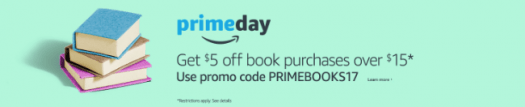 Amazon Prime – $5 off $15 Book Purchase Coupon Code