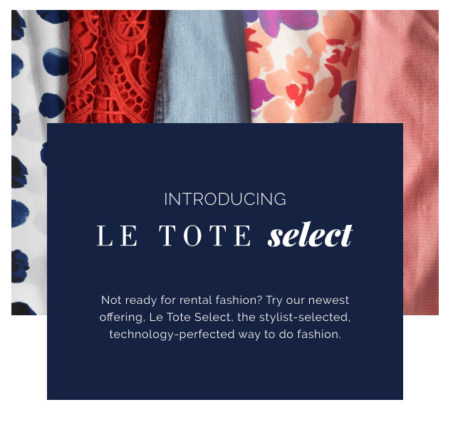 Le Tote Select Cyber Thursday Coupon Code – $20 in Purchase Credit!
