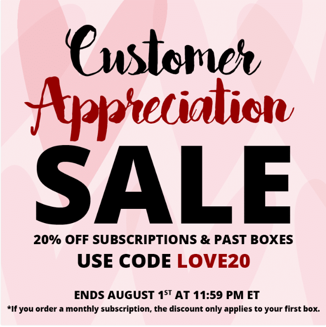 COCOTIQUE Customer Appreciation Coupon Code – Save 20% Off All Subscriptions
