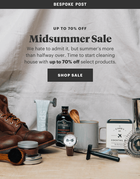 Bespoke Post Midsummer Sale – Save Up to 70% Off + 25% Off First Box Coupon Code