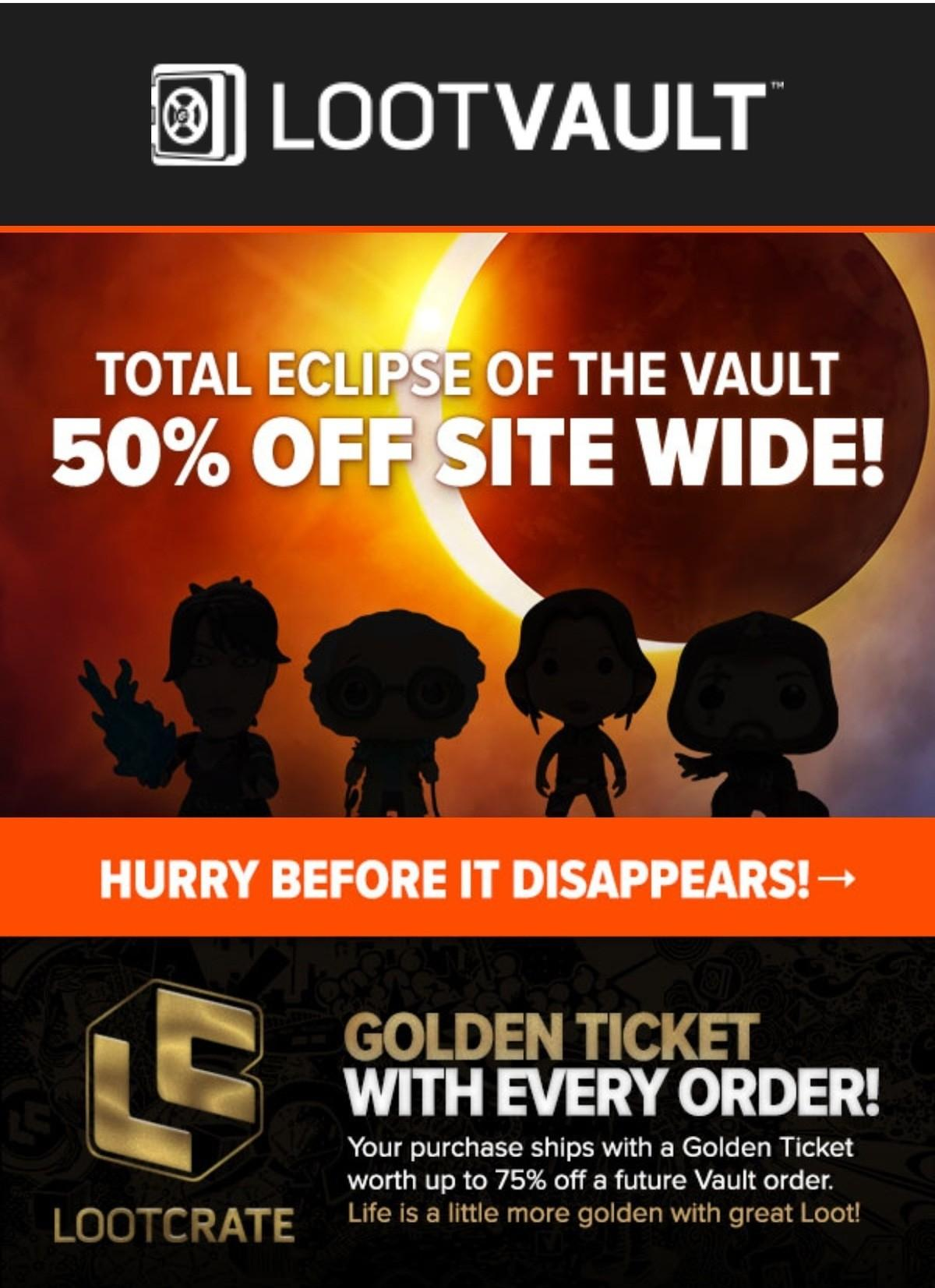 Loot Vault Sale – 50% Off Everything!