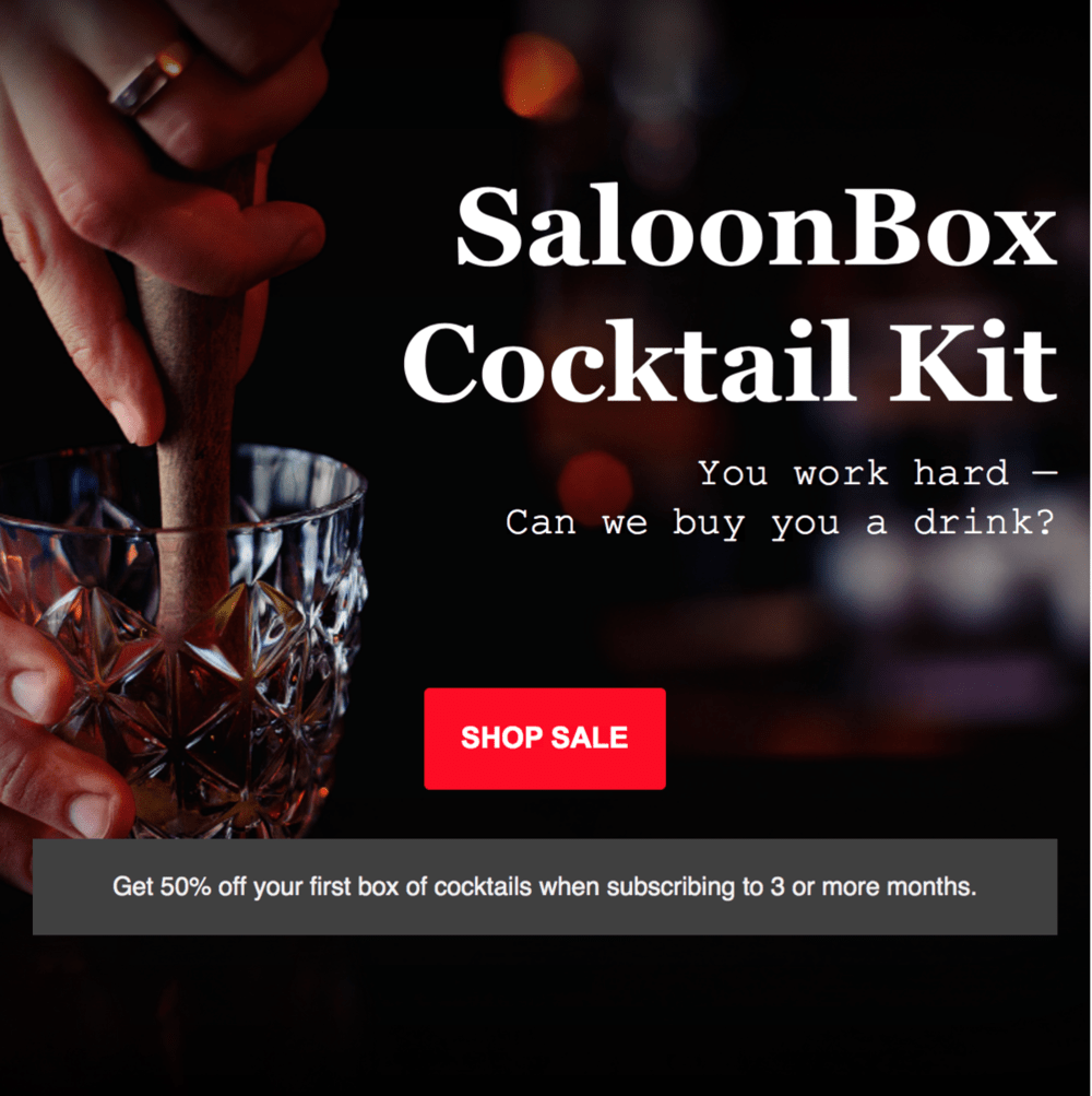 SaloonBox Labor Day Sale – Save 50% Off First Box!