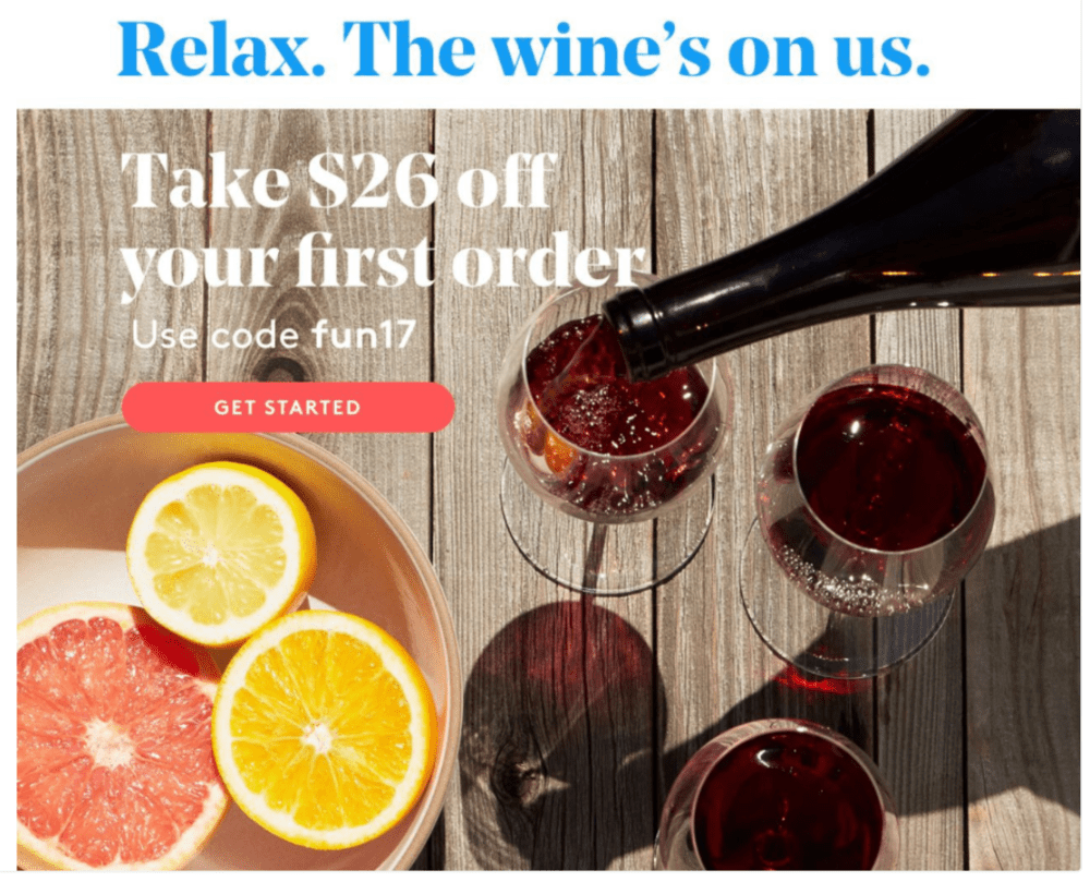 Winc Labor Day Sale – $26 Off First Month!