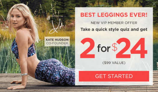 Fabletics Labor Day Sale - First Outfit for $19 or 2 for $24 Leggings!