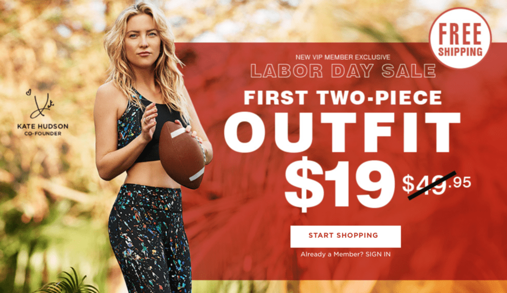 Fabletics Labor Day Sale – First Outfit for $19 or 2 for $24 Leggings!