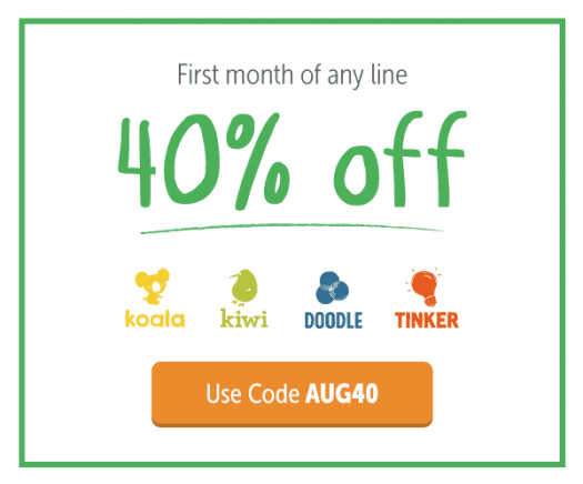 KiwiCo Coupon Code – 40% Off First Month