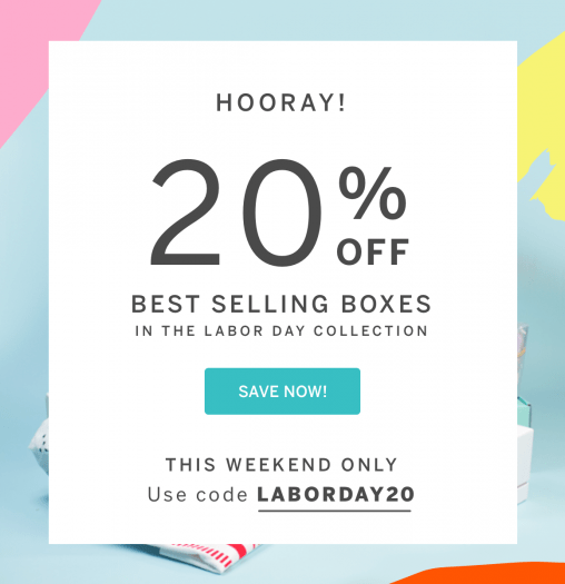 CrateJoy Labor Day Sale – Save 20% Off Select Boxes (Last Day)!