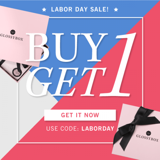 GLOSSYBOX Labor Day Sale – Buy 1, Get 1 FREE