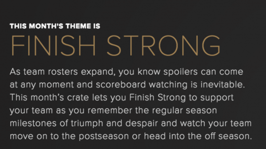 Sports Crate by Loot Crate Crate September 2017 Theme Spoiler
