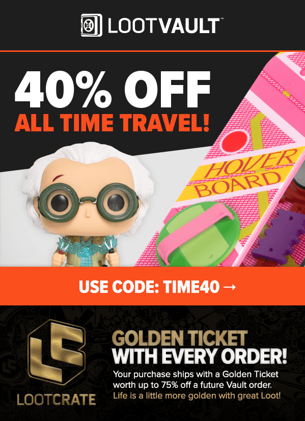 Loot Vault Sale – 40% Off All Time Travel!
