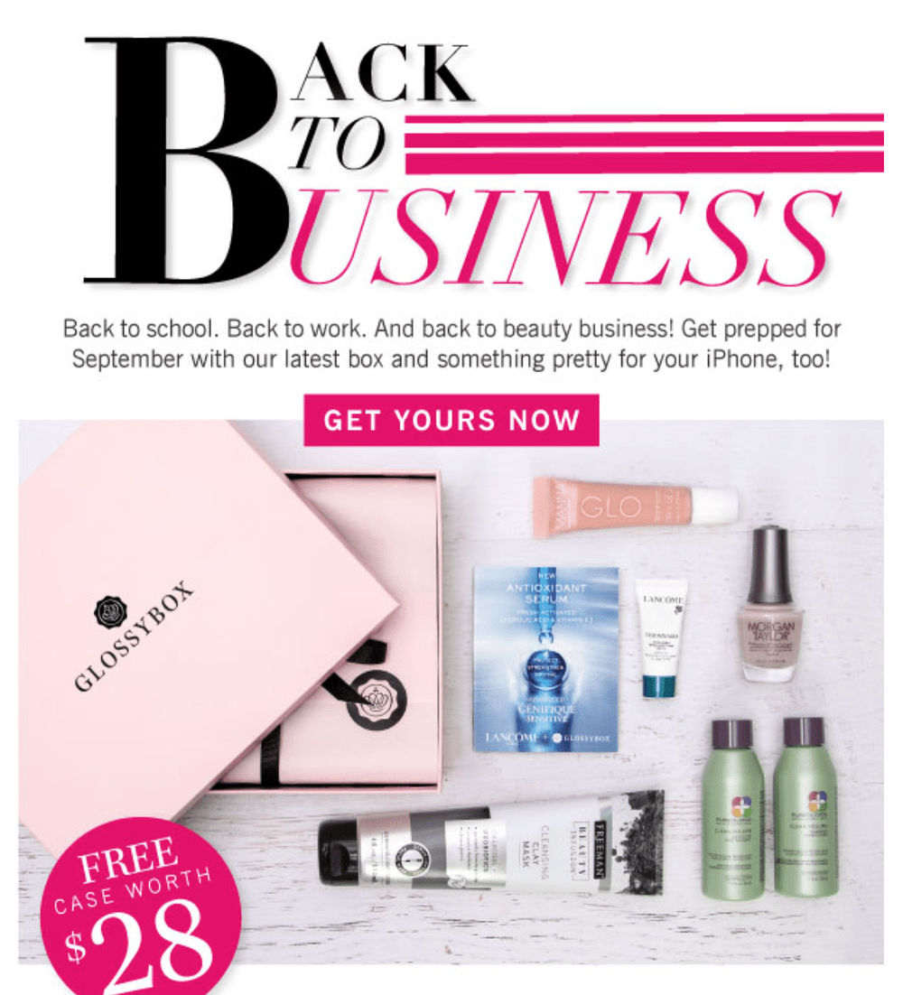 GLOSSYBOX Coupon Code - Free Phone Case with New Subscriptions ...