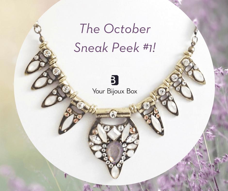 Your Bijoux Box October 2017 Spoiler 2 Subscription Box
