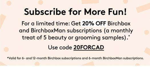 Birchbox Customer Appreciation Day Sale- Save 20% Off Subscriptions