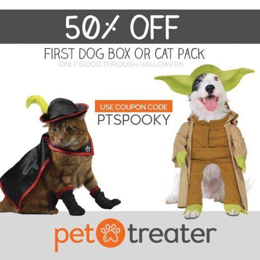 Pet Treater Coupon Code – 50% Off Your First Box