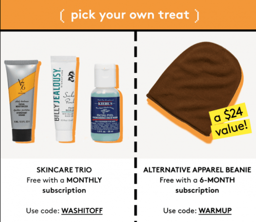 Birchbox Man Coupon Code - Free Gift with Subscription