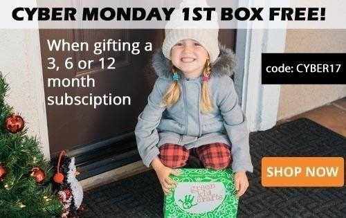 EXTENDED: Green Kid Crafts Cyber Monday Sale – Free Box with New Subscription!