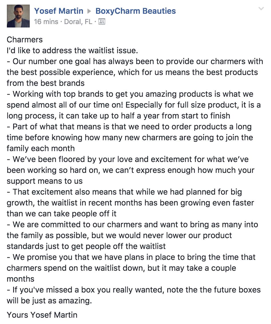BOXYCHARM Waitlist Updates / News - Subscription Box Ramblings