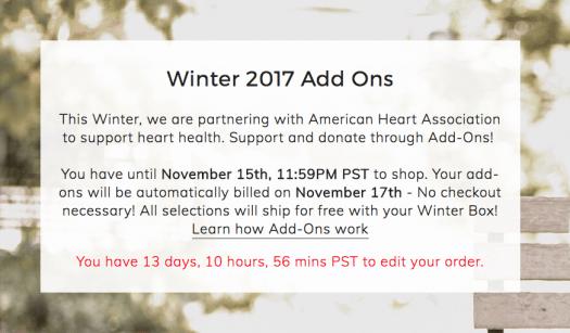 FabFitFun Winter 2017 Add-Ons – Now Open!