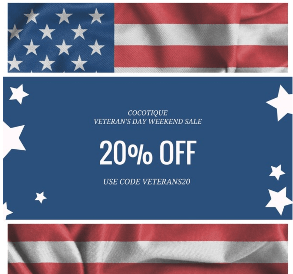 COCOTIQUE Veteran's Day Sale – Save 20% Off All Subscriptions