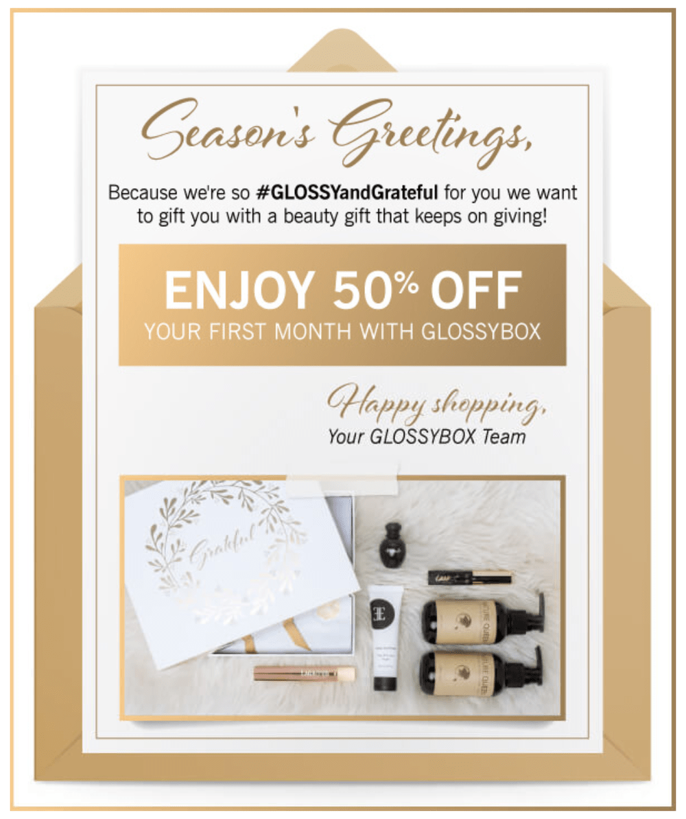 LAST DAY! GLOSSYBOX Coupon Code – 50% off First Month!