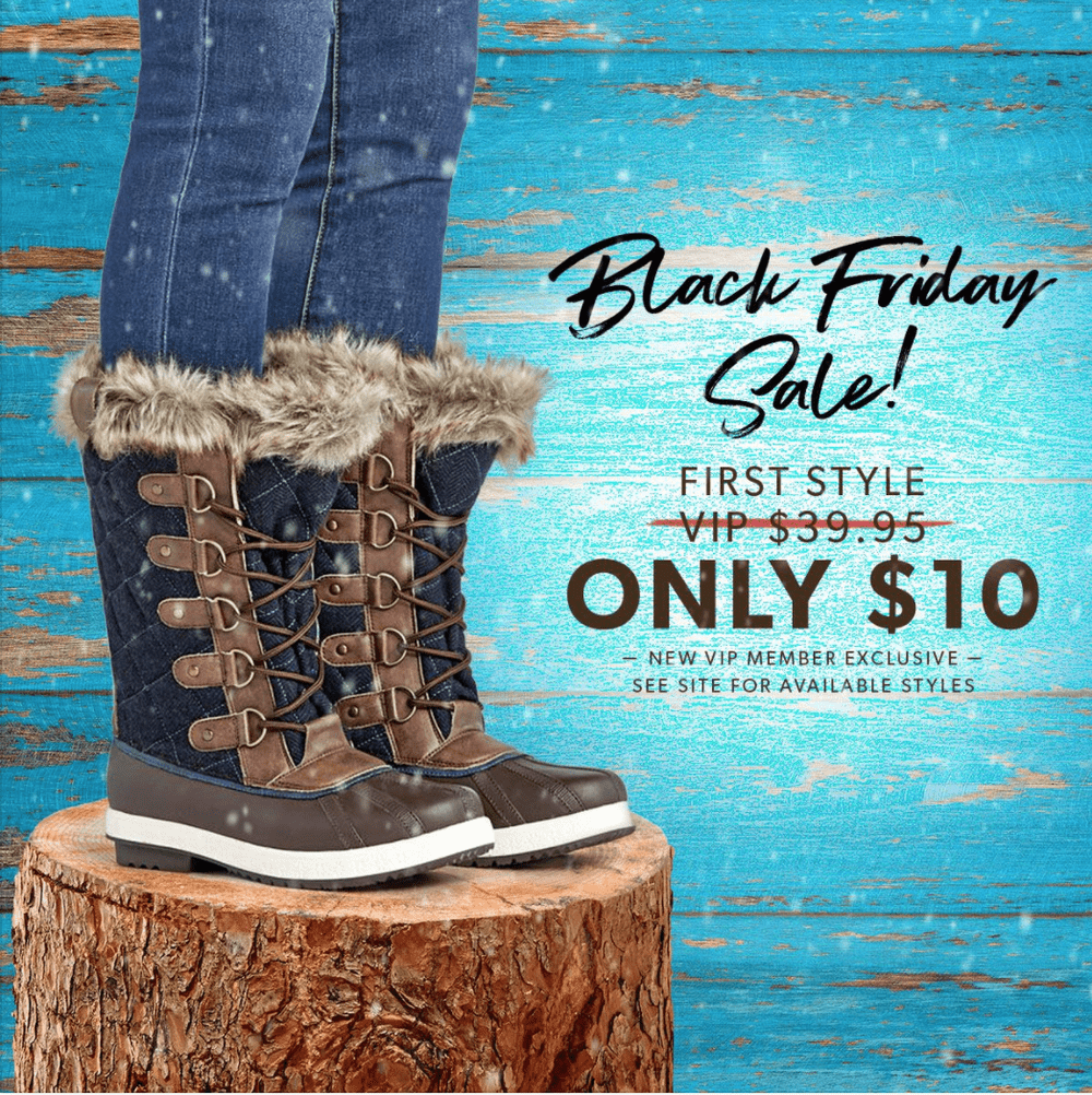 JustFab Black Friday Sale – First Pair for $10!