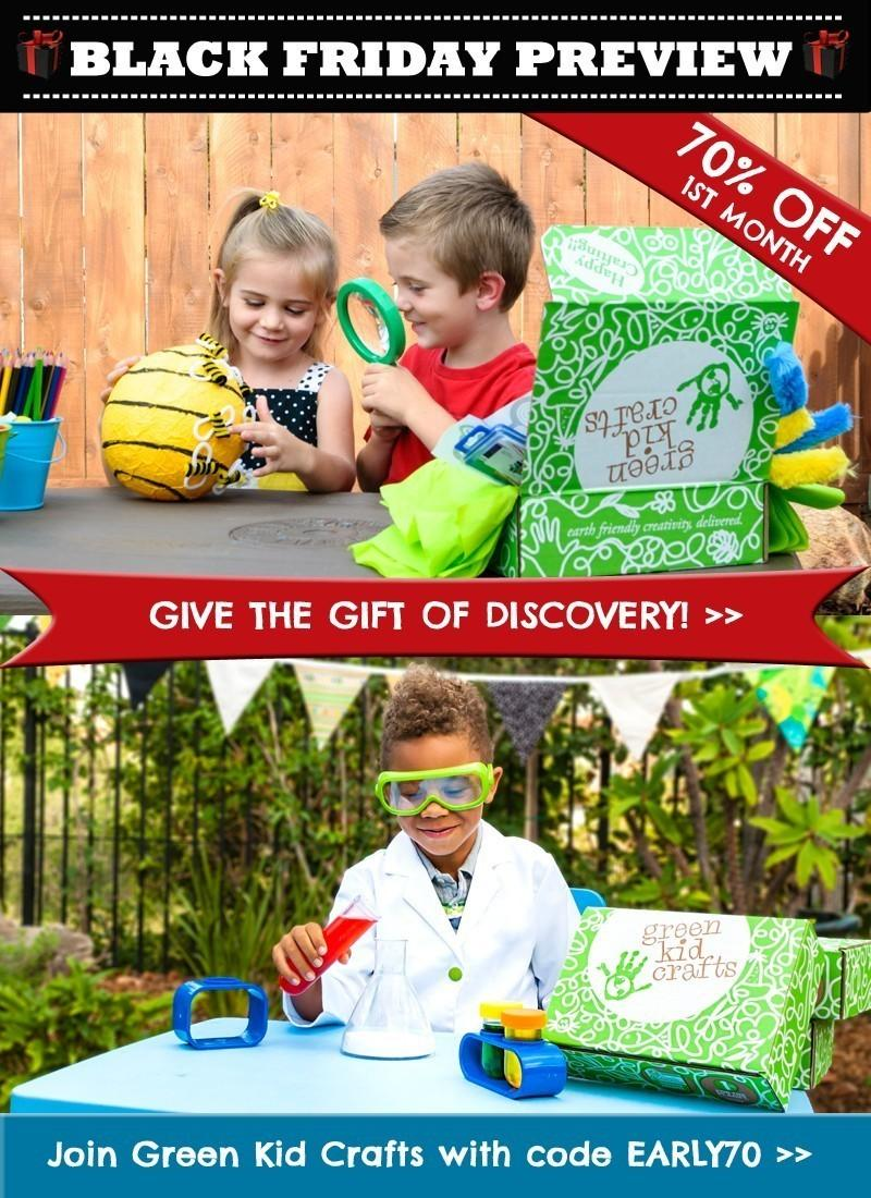 Green Kid Crafts Black Friday Preview Sale – 70% Off First Box!