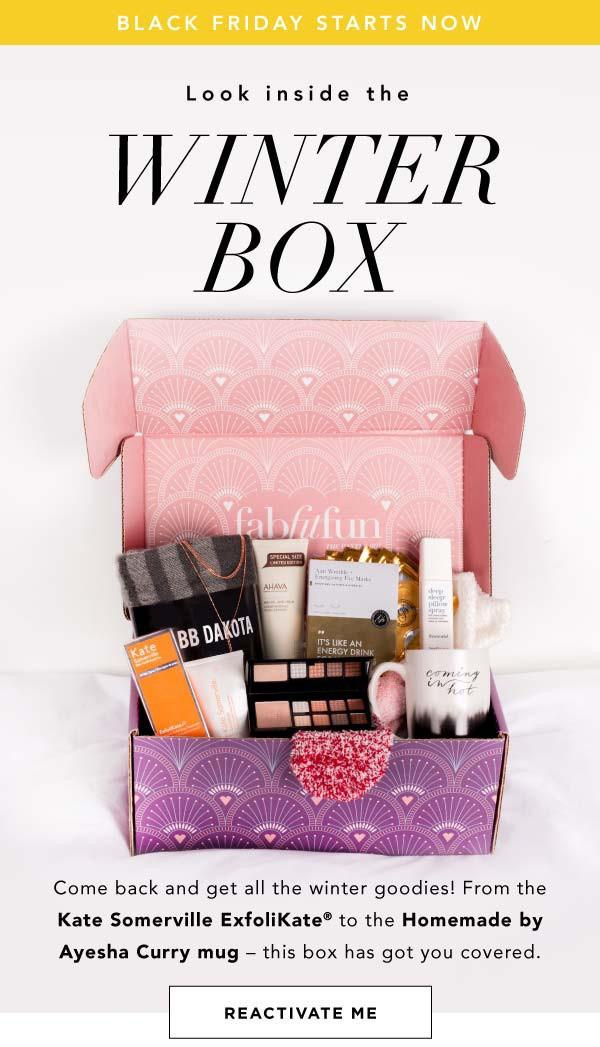 Fabfitfun  Spring Add On Credit With Annual Subscription Winter  Spoilers