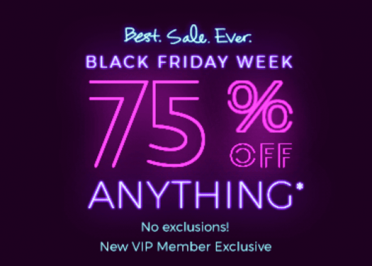 Fabletics Black Friday 75% off First Purchase!