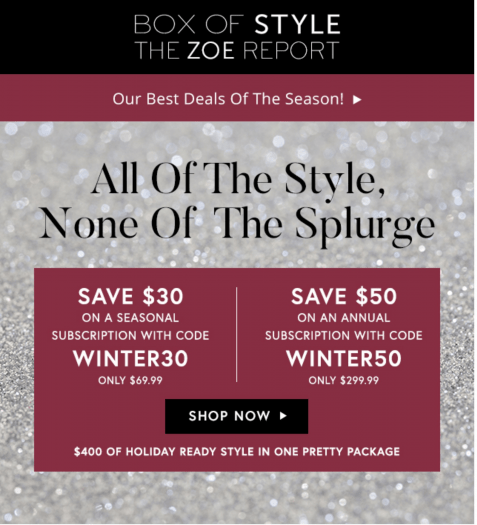 Box of Style by Rachel Zoe Black Friday Sale – Save Up to $50!