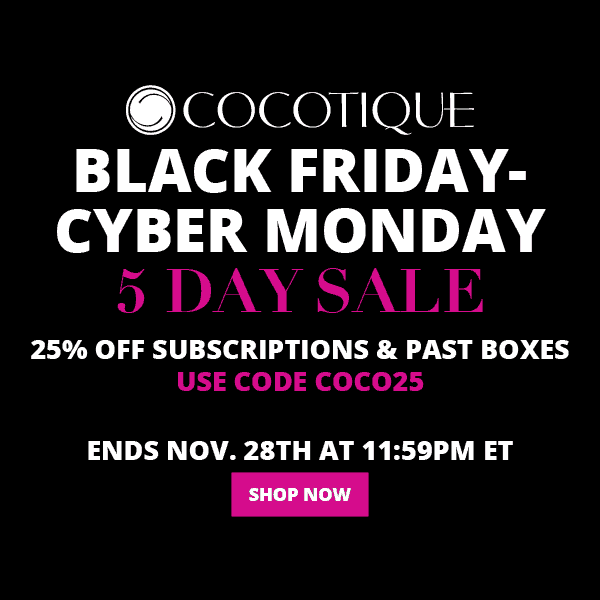 COCOTIQUE Black Friday Sale – Save 25% Off All Subscriptions
