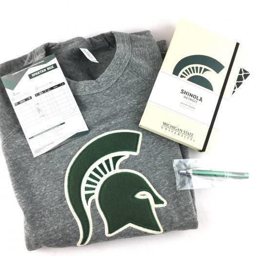 Spartan Box Michigan State Subscription Box Review – November 2017