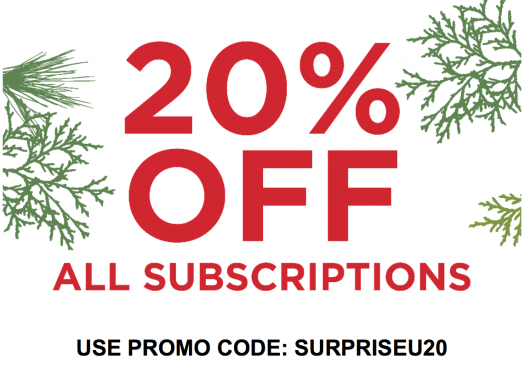 Surprise Ride Flash Sale – Save 20% Off Any Subscription