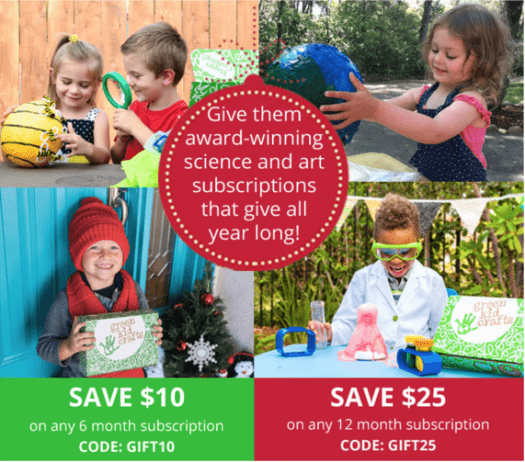 Green Kid Crafts Holiday Sale – Save up to $25!