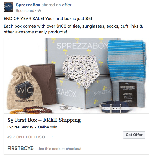 SprezzaBox Coupon Code – First Box for $5!