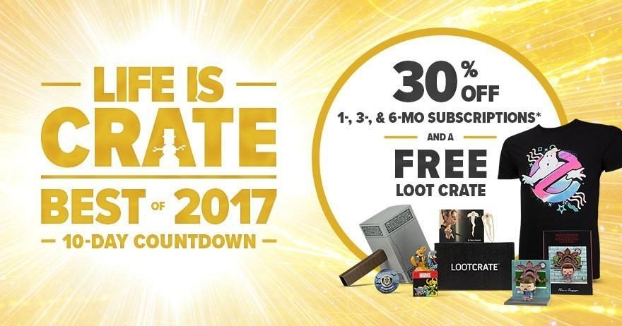 LAST DAY: Loot Crate Coupon Code – 30% Off Sale + Free Crate!
