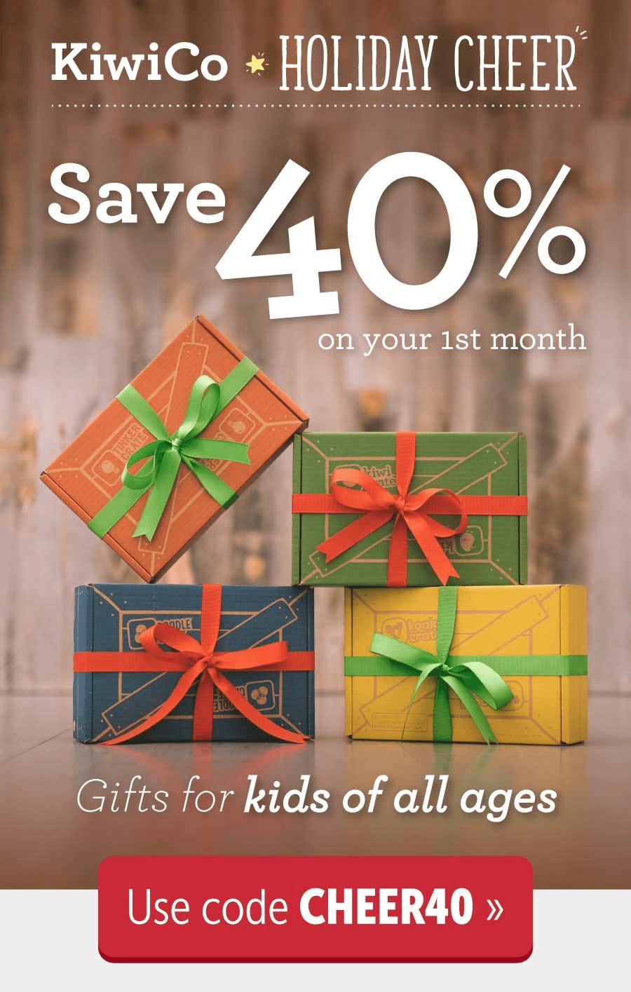 KiwiCo Coupon Code – Save 40% Off!