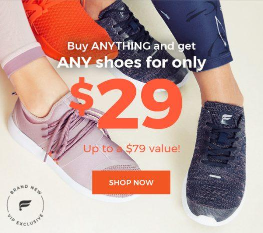 Fabletics – $29 Shoes With Purchase