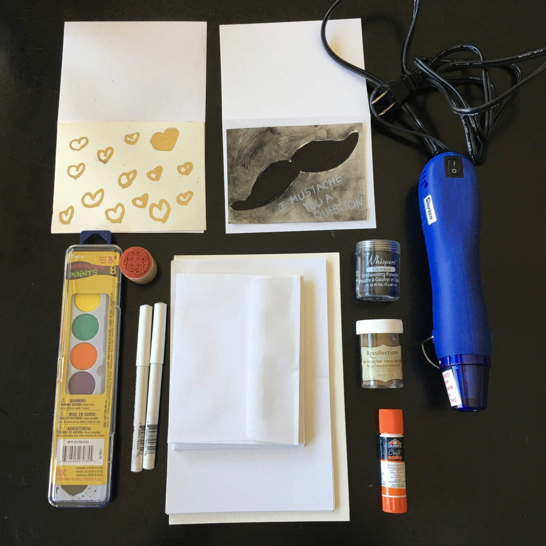 Adults crafts review embossed card making kit for Craft subscription box for adults