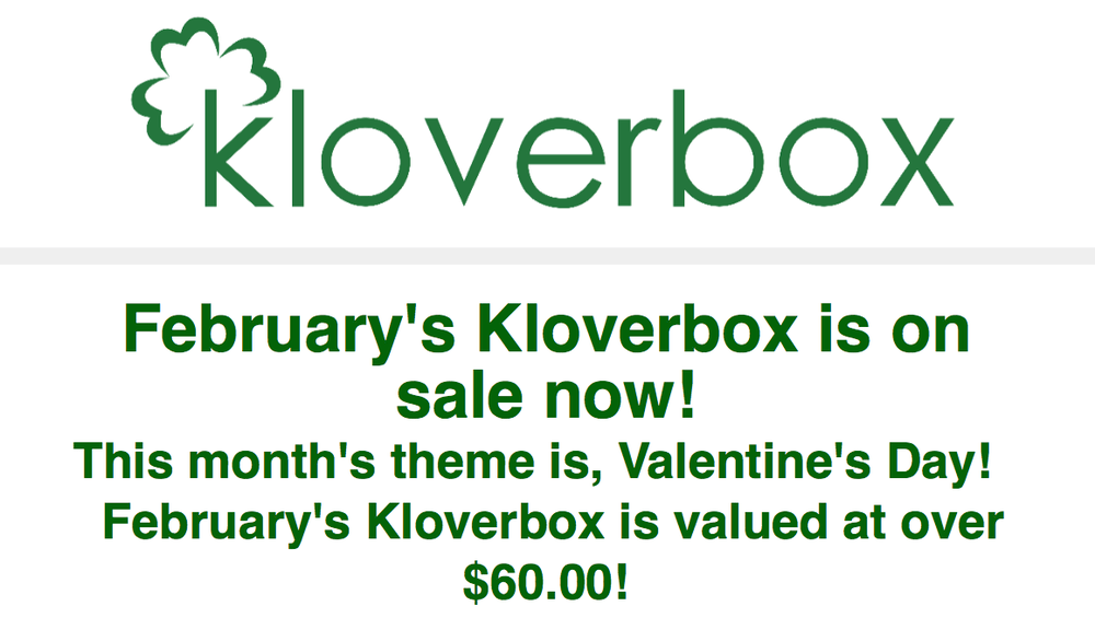 Kloverbox February 2018 Spoiler!