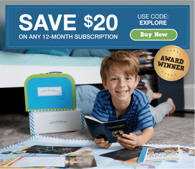LAST DAY: Little Passports Coupon Code – Save $20!