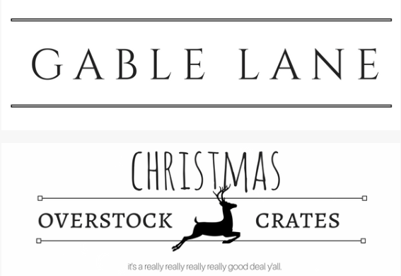 Gable Lane Crates – Christmas Overstock Mystery Crate