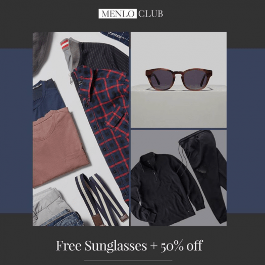 Menlo Club (Five Four Club)- First TWO Months for $30 + Free Sunglasses
