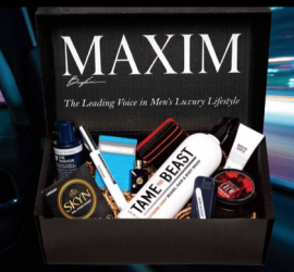 As the leading voice in men's luxury lifestyle, Maxim's editors spend countless hours searching for the very best products to help you live a curated life. Now, many of these items can be yours. With the Maxim Box subscription, you'll receive on-trend style accessories, the most exclusive grooming products, and the coolest gear - everything the discerning gentleman needs. Available four times per year, starting at only $59.95. First time subscribers get 10% off.